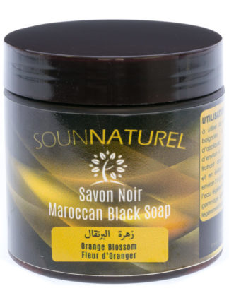 Savon Noir à la Fleur d'Oranger (Moroccan black soap) by Sounnaturel